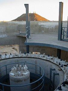 The VISTA telescope pier