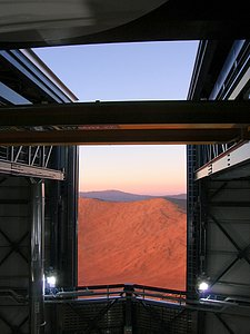 View from the VISTA enclosure