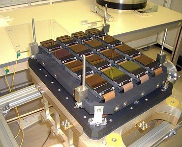 The detectors inside the VISTA camera