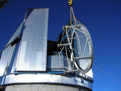 VISTA telescope being installed