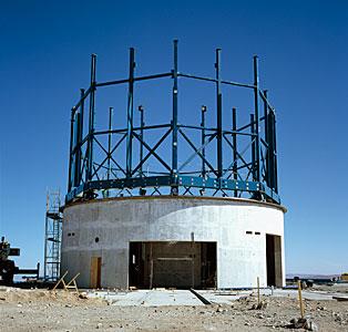 Construction of VISTA exterior December 2004