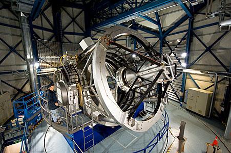 Close up of the VISTA telescope