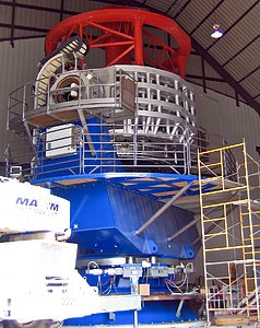 The VISTA telescope under construction