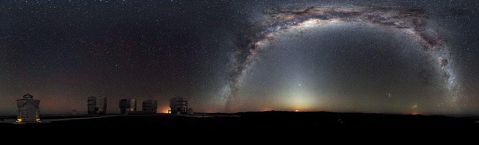 Une vue panoramique unique à 360 degrés du ciel austral
