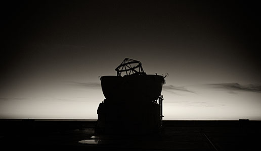 Silhouette of VLT Auxiliary Telescope