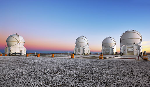Auxiliary Telescopes at twilight