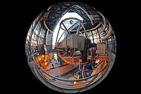 Fish-eye perspective inside a UT