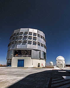 VLT and a speckling of stars