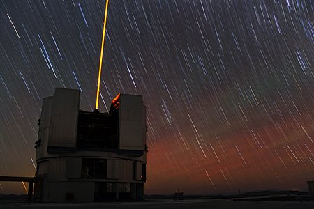 Startrails and lasers