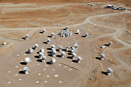 ALMA from the air
