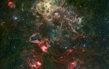 Mounted image 030: Portrait of a dramatic stellar nursery
