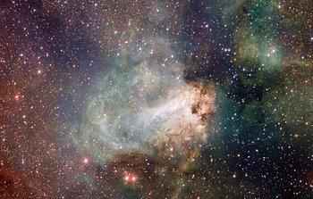 Mounted image 130: VST image of the Omega Nebula