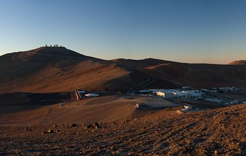 Mounted image 007: The VLT and Residencia and base camp