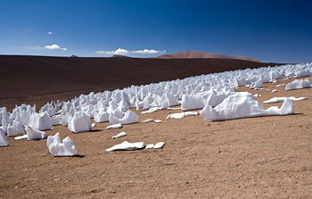 Mounted image 017: Penitentes ice formation on Chajnantor
