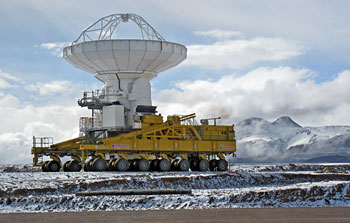Mounted image 096: Snow at the ALMA site