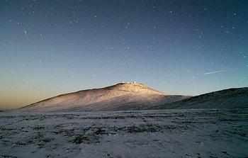 Mounted image 147: Dark Sky and White Desert