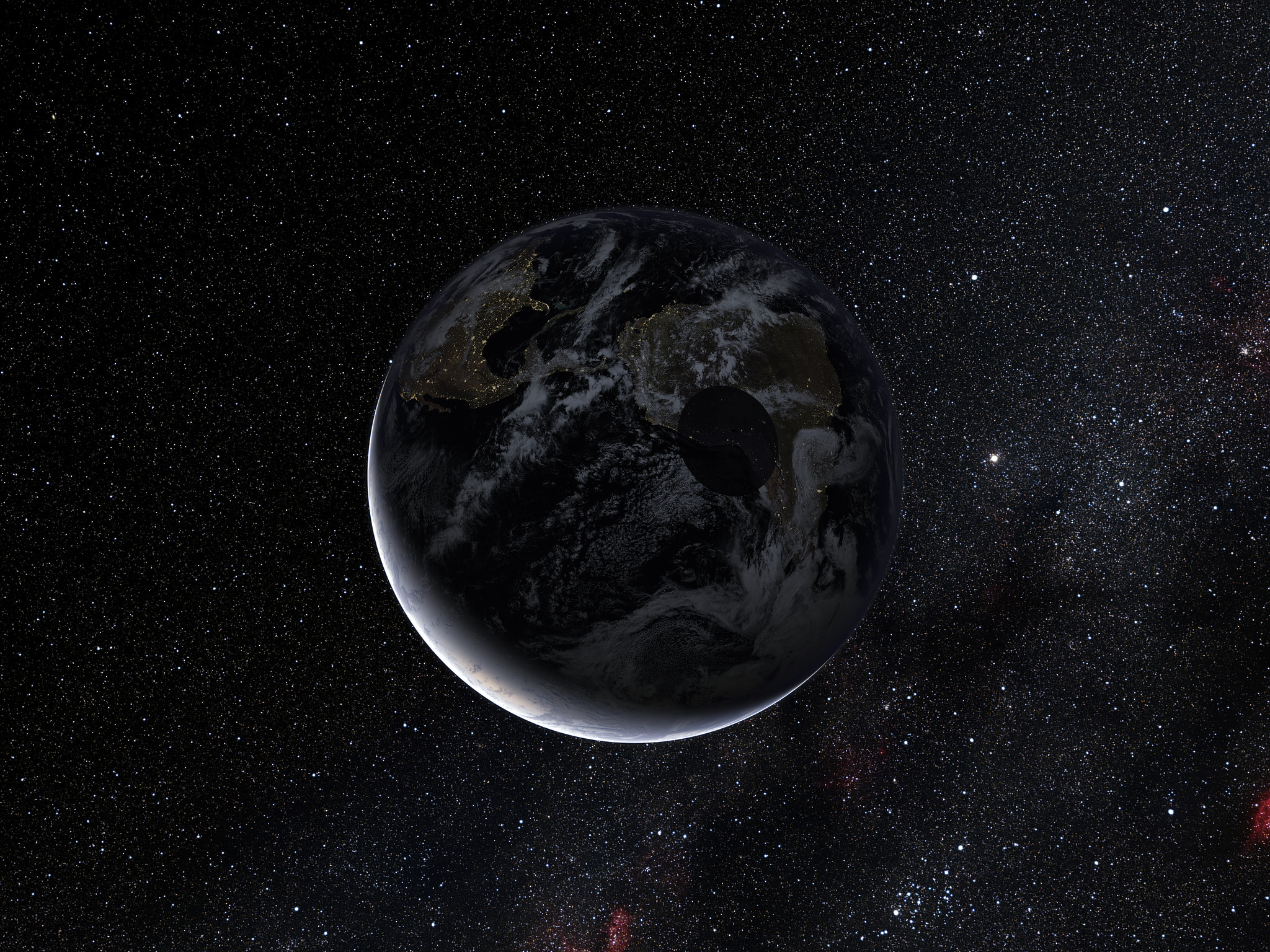Path Of The Shadow Of The Dwarf Planet Eris During The