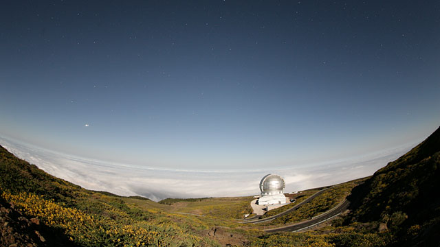 Gran Telescopio Canarias timelapse