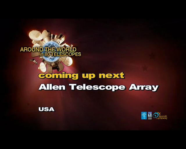 Allen Telescope (AW80T webcast)