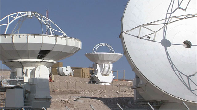 Four ALMA Antennas at the OSF