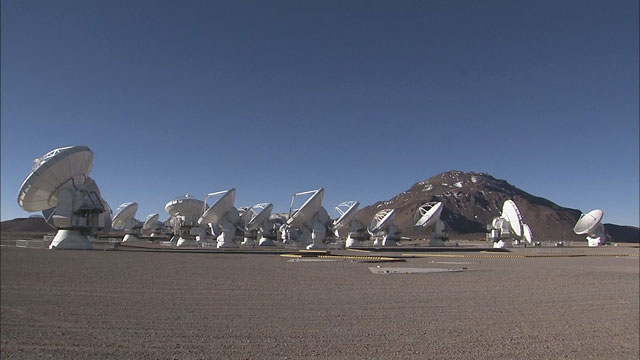 The ALMA array at the Chajnantor plane (part 10)