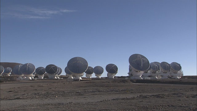 The ALMA array at the Chajnantor plane (part 11)