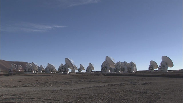 The ALMA array at the Chajnantor plane (part 14)