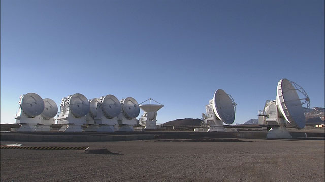 The ALMA array at the Chajnantor plane (part 16)