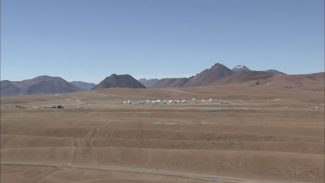 The ALMA array at the Chajnantor plane (part 4)