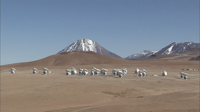 The ALMA array at the Chajnantor plane (part 5)