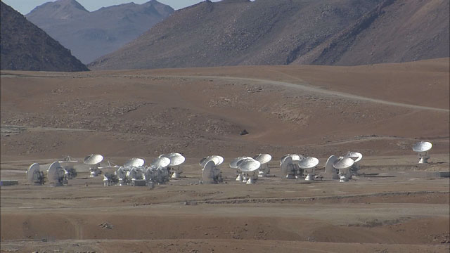 The ALMA array at the Chajnantor plane (part 6)