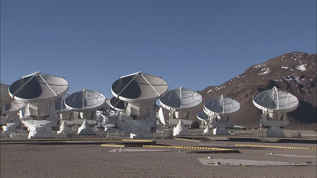 The ALMA array at the Chajnantor plane (part 9)