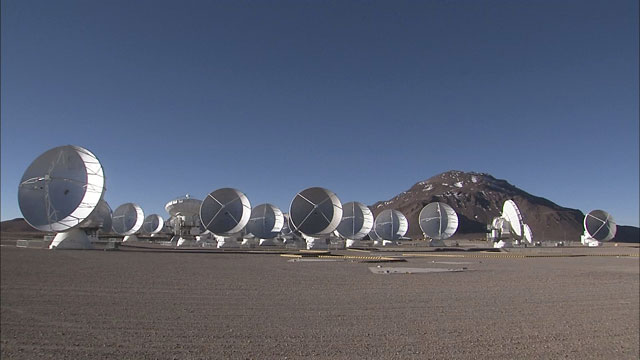 Time-lapse sequence of ALMA antennas at Chajnantor (part 1)
