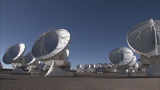 Time-lapse sequence of ALMA antennas at Chajnantor (part 4)