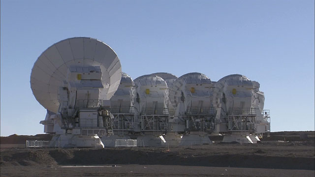 Time-lapse sequence of ALMA antennas at Chajnantor (part 5)