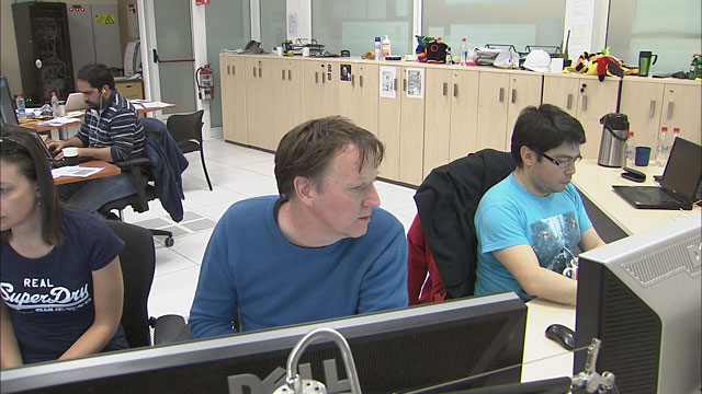 Astronomers at the OSF control room during observations (part 7)