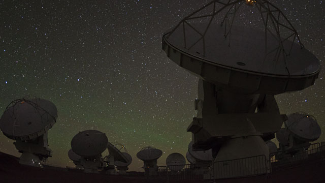 ALMA Observations at the Chajnantor Plateau (time-lapse)