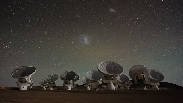 The ALMA Antennas and the Magellanic Clouds