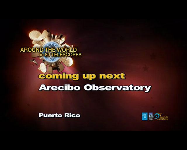 Arecibo Observatory (AW80T webcast)