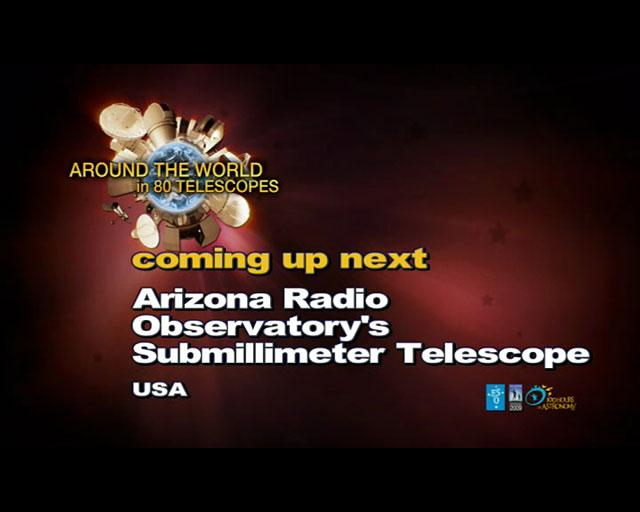 Arizona Radio Observatory (AW80T webcast)
