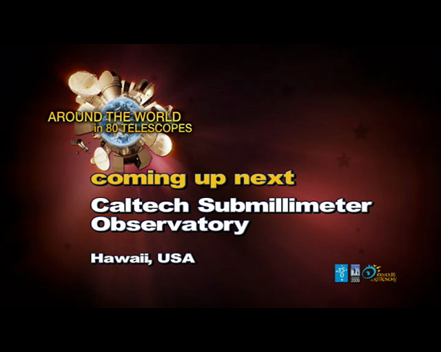 Caltech Submillimeter Observatory (AW80T webcast)