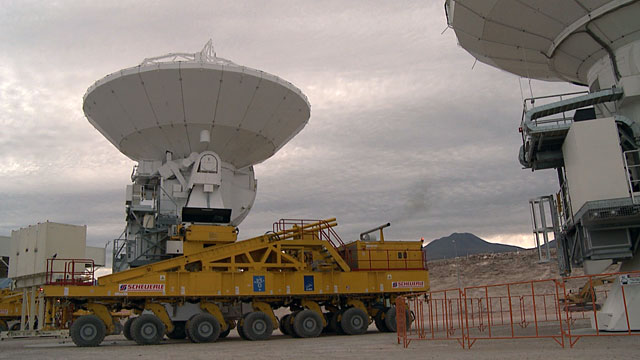 The first journey of an ALMA antenna to the plateau of Chajnantor