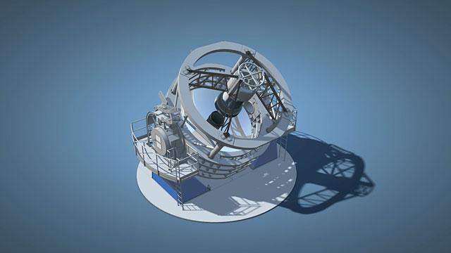 3D animation of the VISTA telescope