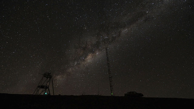 Night-Time Time-lapse at Cerro Armazones