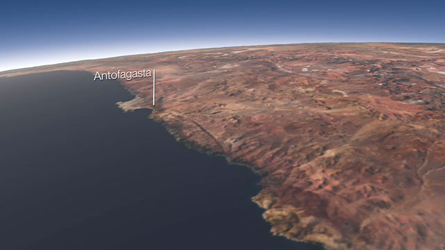 The area around Paranal and Armazones