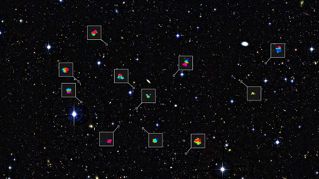 Zooming in on teenage galaxies in the distant Universe