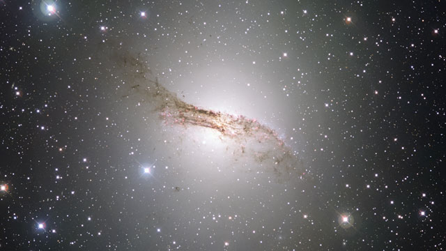 Zooming in on the strange galaxy Centaurus A
