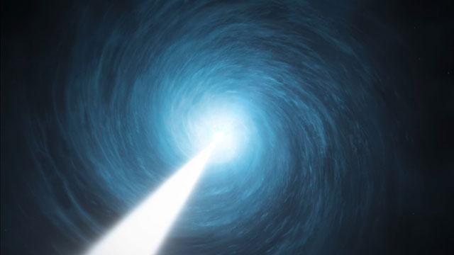 Artist's impression of the quasar 3C 279