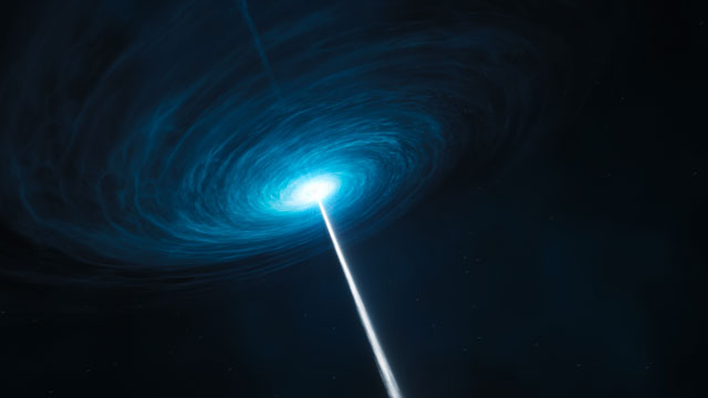 Artist's impression of the quasar 3C 279 (alternative version)