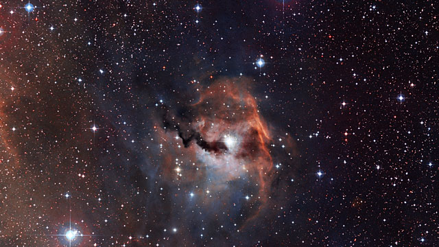 Zooming in on the Seagull Nebula (IC 2177)